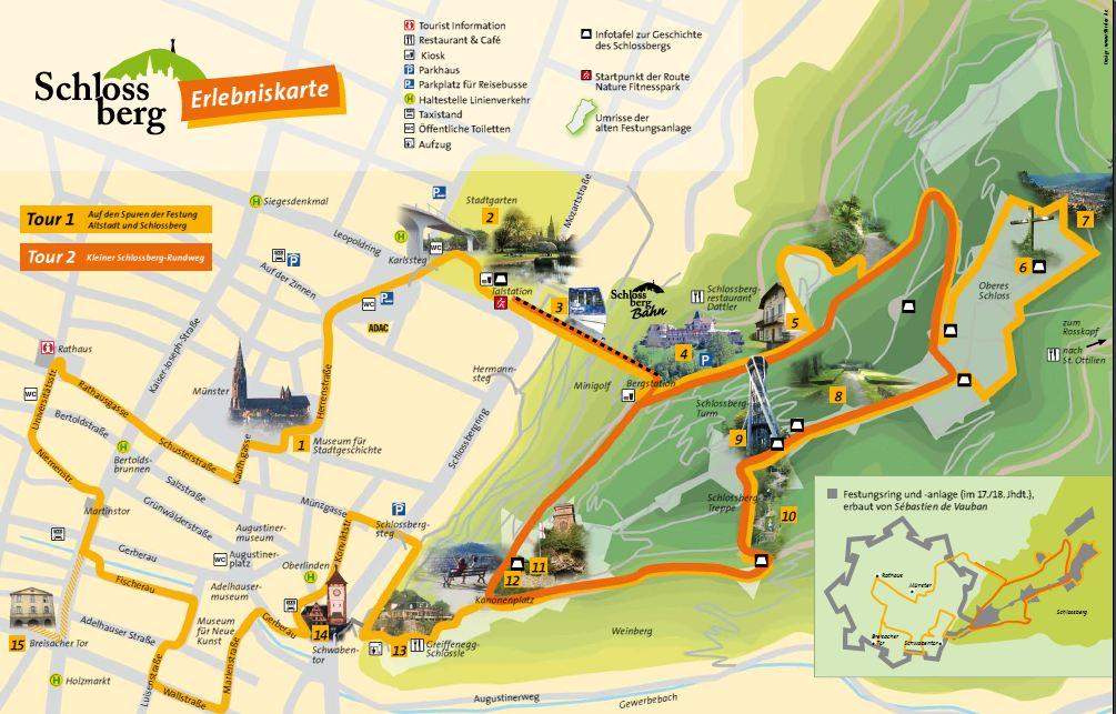 Deckblatt Faltplan Schlossberg