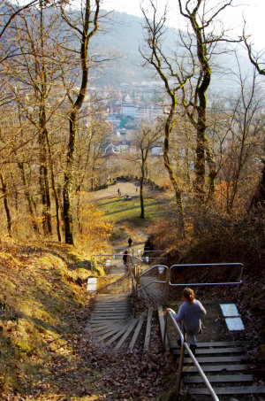 Schlossbergtreppe abwärts